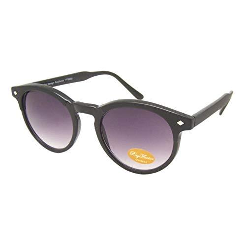 Sonnenbrille Round Panto Eyebrow Retro Style 400UV getönt Raute schwarz