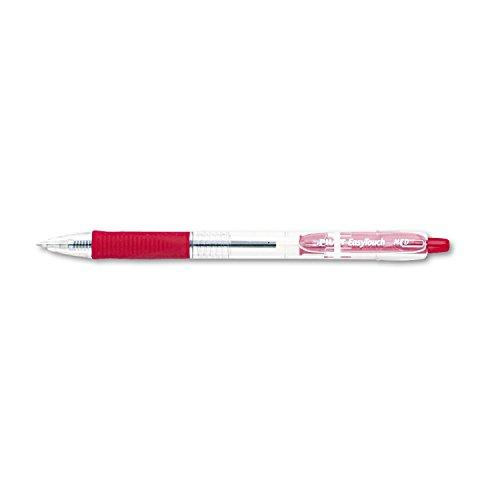 Pilot EasyTouch Retractable Ball Point Pen, Red Ink, 1mm, Dozen