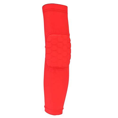Compression Elbow Sleeve, unisex atmungsaktiv elastische Mischung Sicherheit Ellenbogenschutz Schutz Sport Protector Ellenbogenbandage für Basketball Golfer Arthritis Gewichtheben Sport(M-Rot)