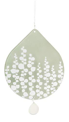 Unbekannt Blattwerk Fensterbild 'Blumen' blaugrün - Räder Design