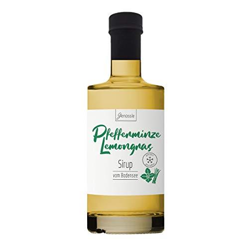 Pfefferminze-Lemongras Sirup 350ml - Genüssle Zitronengras Pfefferminz Sirup vom Bodensee - Sirup für heiße Tage zum eiskalt genießen