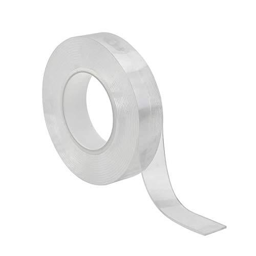 YANSHG® 30 * 2mm Multifonction Nano Tape (1M/3M/5M)-Transparent Double Face Ruban Anti-dérapant réutilisable Lavable Autocollant Universel Peut Coller à téléphone Portable/Pads/clés/Outils de Cuisine