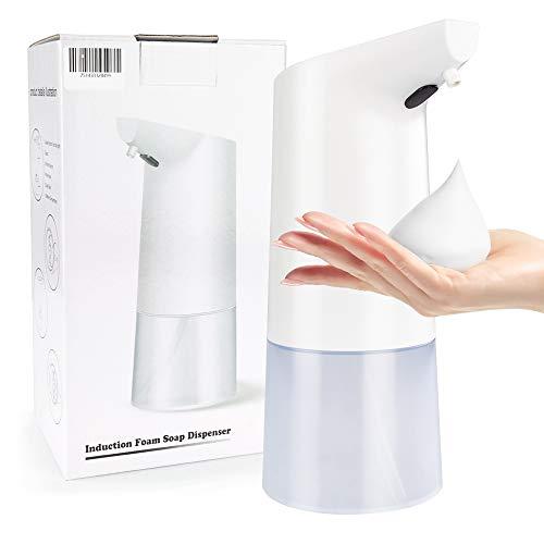 Bichiro Seifenspender Automatik, 350ML Seifenspender Pumpe Flasche mit Senstive Infrarotsensor, berührungsloser Handschaumspender für Bad, Küche, Hotel