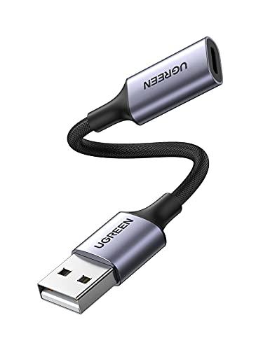 UGREEN Externe Geluidskaart USB Audio naar Lightning Adapter Compatibel met Macbook Pro Air Matebook 13 14 Yoga Earpods…