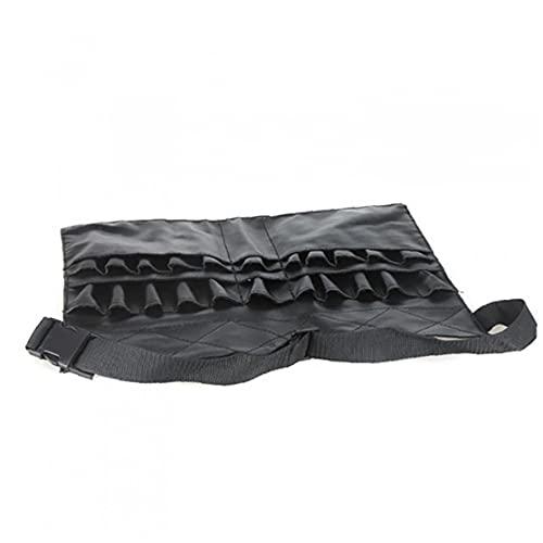Brosses de maquillage sets de maquillage ceinture de taille portative 22 poches de pinceau cosmétique porte-outils Beauté Organisateur avec la courroie d'artiste Strap en cuir PU Taille (Noir)