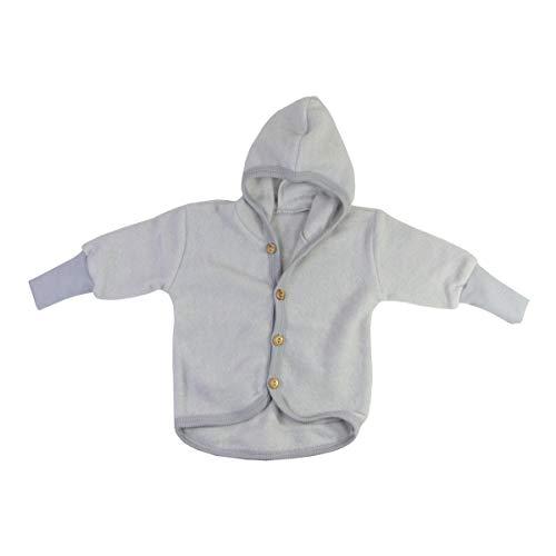 Cosilana Baby Woll-Fleece Jäckchen mit Kapuze kbT Wolle Bio Baumwolle (98-104, Grau-Melange)