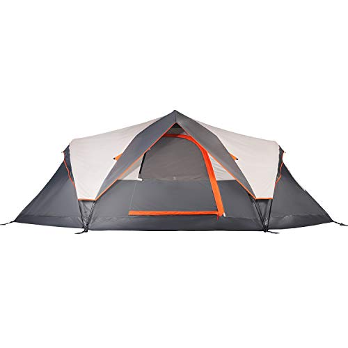 Mobihome 6 Person Tent Family Camping Quick Setup, Instant Extended Pop Up Dome Tents Outdoor, with Rainfly and Mesh Roofs & Door & Windows - 13.5' x 7'