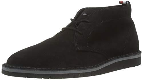 Tommy Hilfiger Suede Boot, Stivali Desert Boots Uomo, Nero (Black 990), 45 EU