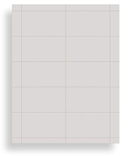 Colored Business Cards - 25 Sheets / 250 Business Cards - Inkjet & Laser - 10 per sheet (Plain Grey)