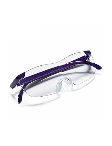XUEXIU Vidrio Montado En La Cabeza, Lente De Resina De Alta Definición Óptica 2X, Vidrios Portátiles De Protección Ocular, Estudio Y Apreciación del Aprendizaje De Oficinas (Color : Purple)