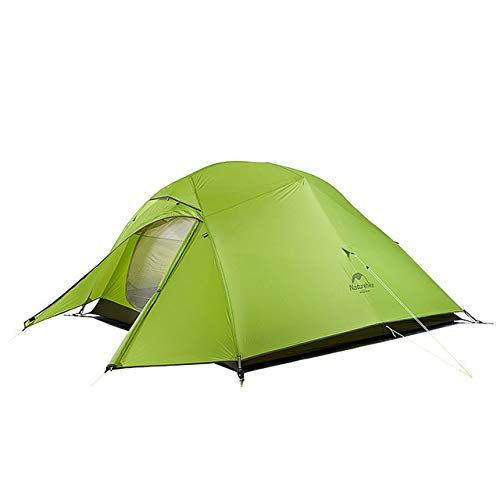 Mdsfe Naturehike Cloud Up Series 20D Nylon Ultralight Camping Tent Waterproof Wind-proof HikingTent For 3 Person NH18T030-T-20D Light Green,A9