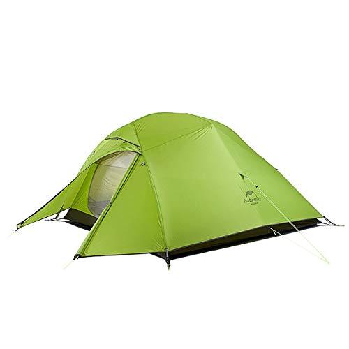 Mdsfe Naturehike Cloud Up Series 20D Nylon Ultralight Camping Tent Waterproof Wind-proof HikingTent For 3 Person NH18T030-T-20D Light Green,A8