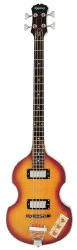 Epiphone Viola Elektrische Bass-Gitarre (Vintage Sunburst Lack, Ahorn Korpus und Hals, 30.5 Mensur)