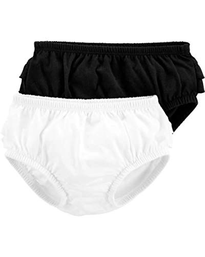 Carter's Baby Girls' 2-Pack Diaper Covers (24 Months, Black & White//Diaper Cover)