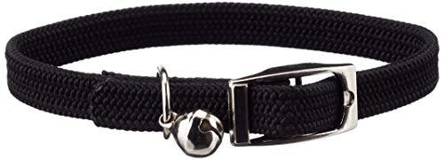 Collier Chat Elastique Noir Chrome 28CM