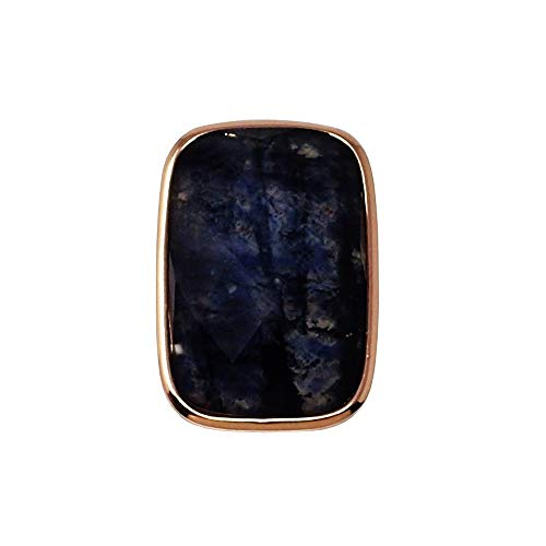 Colgante plata Ley rosada GLAMOUR 925 piedras naturales [AC0719]