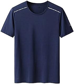 Wanxiaoyyyinnsdx Mens Henley Short Sleeve, Super Large Size L-XL Men Summer Casual Brand Black Short Sleeve T-shirt ; Tops...