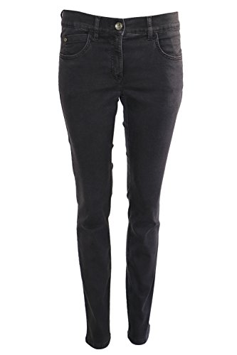Zerres dames jeans Twigy - donkerbruin 4005 560