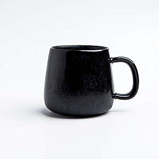 Sharpdo Ceramic Kiln Beaker Coffee Changing Glaze Cup-380M-380Ml-Black
