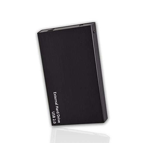 Portable External Hard Drive, USB 2.0, 2.5' Slim External Hard Drive Plug and Play Hardrive for Storage, Backup for Computer, MAC, Desktop, Laptop, MacBook, Chromebeook (160 GB, Black)