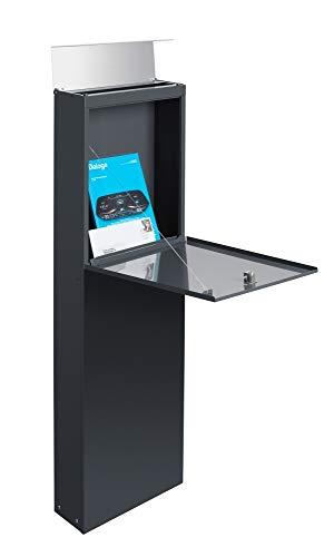 Frabox® Design Standbriefkasten NAMUR anthrazitgrau RAL 7016 / Edelstahl – Made in Germany! - 2