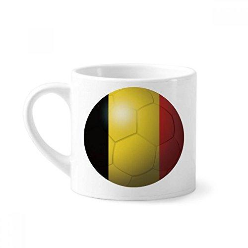 DIYthinker België Nationale Vlag Voetbal World Cup Mini Koffie Mok Wit Aardewerk Keramische Beker Met Handvat 6oz Gift