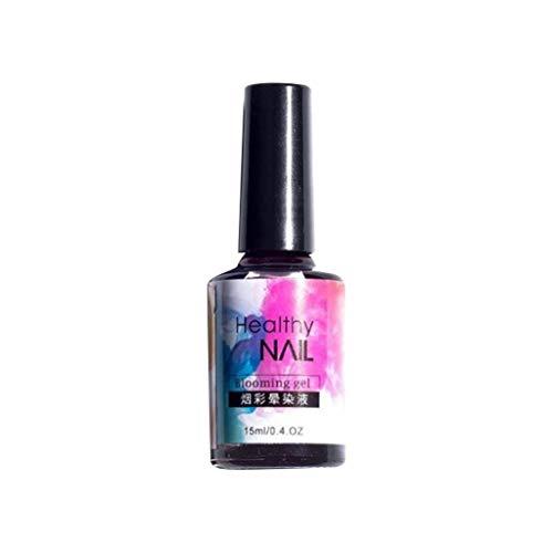 Hupoop Finger, neue Nagelfleck flüssige Tinte Rauch Farbe Fleck flüssige Blase ein Marmormuster Gradienten Nail Art japanischen Wasser Farbstoff Liquor (B)