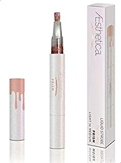 Aesthetica Strobe Series Liquid Highlighting Pen Lightweight Buildable Formula Creates a Shimmery Glow - Light to Medium