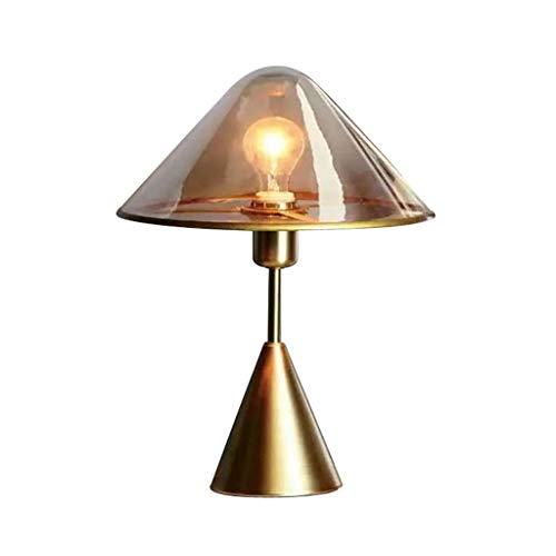 Lámparas de Mesa Lampara mesita Noche Vidrio lámpara de Mesa Moderna nórdica Creativa lámpara de cabecera del Dormitorio con Estilo lámpara de Mesa Mesilla de Noche Lámpara de Mesa
