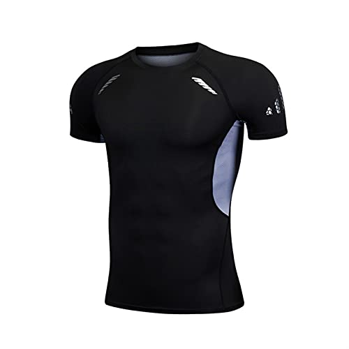 ZYOONG Camisetas de compresión para hombre, de secado rápido, para fitness, ropa deportiva, transpirable, color S 01, talla asiática XXL)