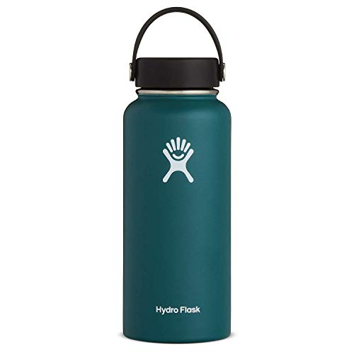 Hydro Flask Water Bottle - Stainless Steel & Vacuum Insulated - Wide Mouth with Leak Proof Flex...