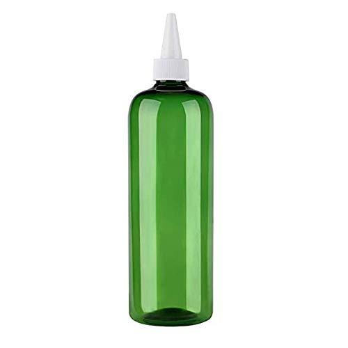 Maliwan 1/2 Stück Kunststoff-Haarfärbe-Flasche, 473 ml, multifunktional, nachfüllbar, Spitzmundkappen-Flasche für Wasser-Emulsion (grün)