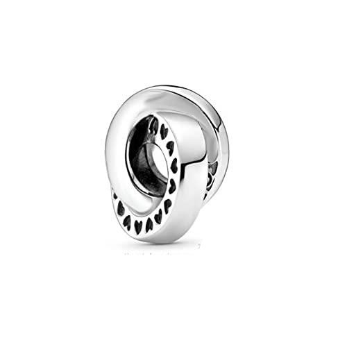 LIIHVYI Pandora Charms para Mujeres Cuentas Plata De Ley 925 Regalo De Joyería Colgante con Triple Monograma Pre Atumn Signature Compatible con Pulseras Europeos Collars