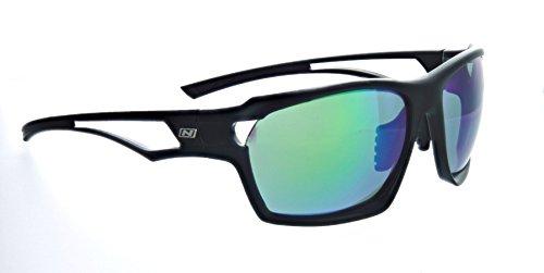 Optic Nerve Variant - Gafas de Sol con Dos Lentes Intercambiables, Talla única, Negro Mate