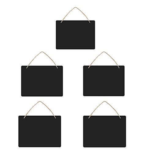 5pcs Kreidetafel Schiefertafel Vintage zum Aufhängen, Kreidetafeln Beidseitig Aufhängen Kreidetafeln Mini Nachricht Zeichen Board mit hängenden Zeichenfolgen für Küche Wand, Hochzeit
