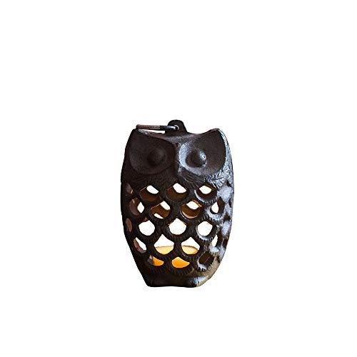 KMYX Retro Antiek Kleine Gietijzer Aromatherapie Oven Mini Creatieve Uil Pine Cone IJzeren Kandelaar Thuis Decoratieve Ornamenten Groceries Tuingeschenken