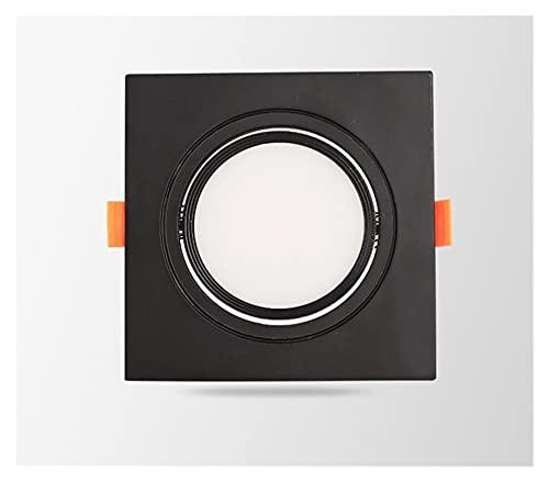 YSJJJBR Foco Empotrable LED Cuadrado pimmable Empotrado LED COB Downlights 7W 9W 12W 15W 18W LED Luces de Techo AC85-265V Iluminación Interior fría Caliente. (Body Color : Black 1, Size : Cold White)
