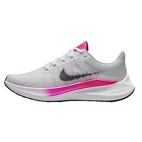 Nike Winflo 8, Zapatillas para Correr Mujer, White Black Bright Crimson Total Orange, 38 EU