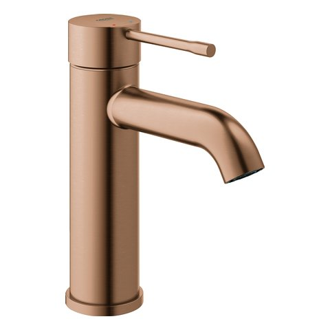 Grohe Essence New eenhands wastafelkraan met gladde uitloop 5,7 l S - Brushed Warm Sunset