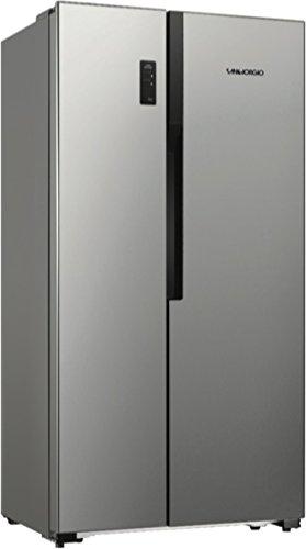 SanGiorgio sb54nfxd Libera installazione 518L a + acciaio inossidabile frigorifero side-by-side–Frigorifero indipendente, Libera installazione, Acciaio Inox, Porta americana, A LED, vetro, 518L