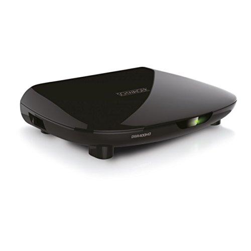 Schwaiger DVB-S2 Receiver mit USB-Anschluss, FTA, schwarz