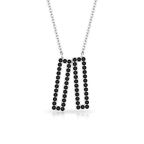 Rosec Jewels 14 quilates oro blanco redonda Black Espinela negra