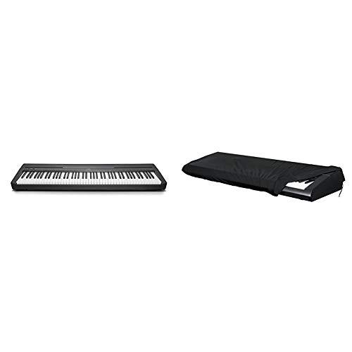 Yamaha P-45 piano numérique avec 88 touches – Compact et transportable – Idéal pour les débutants – Noir & GATOR Cases Stretchy GKC pour clavier 88 touches