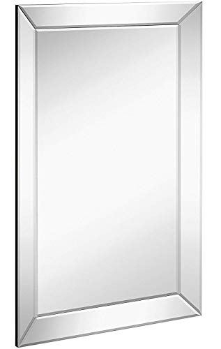 Hamilton Hills Large Framed Wall Mirror with Angled Beveled Mirror Frame | -