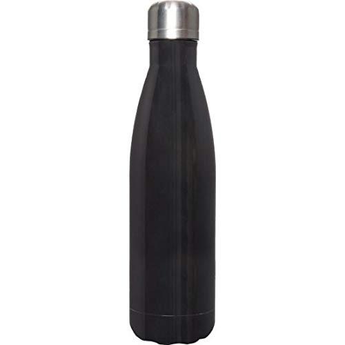 Botella térmica de aluminio Thermos Could 48h Hot 12h 500 ml doble pared aislante. Medidas del artículo (cm) Ø 7x26 cm para información contactar con MF Sport 055-264490 (negro)