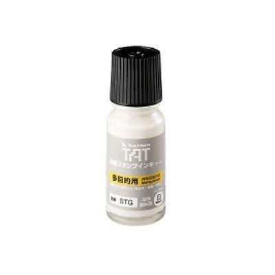 タートスタンプ台補充インキ 容量:55ml (多目的タイプ) 白 品番:STG-1シロ 注文番号:51407131 メーカー:シヤチハタ