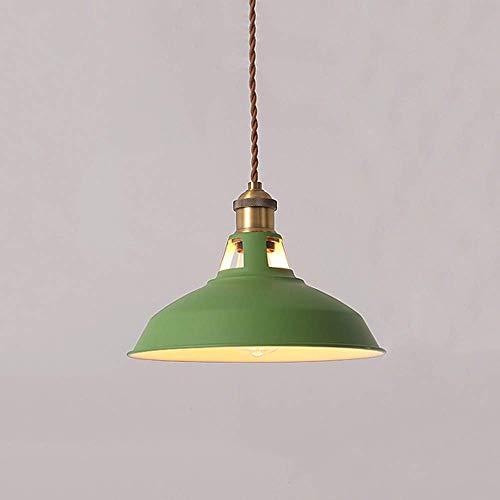 Eenvoudig idee retro creativiteit industrie henneptouw plafond hanglamp vintage biljartmetaal hanglamp kroonluchter café restaurant hotel spooling lantaarn E27, D-B groen