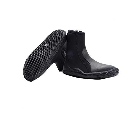 5mm Traje De Neopreno Botas Zapatos Botas De Buceo Resistente a La Perforación De La Cremallera Lateral Para Deportes Acuáticos De Snorkel Navegación Kayak Surf Negro 11yards Artículos De Interés