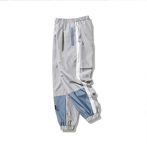 N/ A Pantalon de Jogging Splice pour Hommes Mode Homme Pantalon Cargo décontracté Pantalon High Street Taille Moyenne Pantalon Sarouel