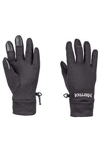 Marmot Wm's Power STR Connect Glove Gants Polaires, Chauds, Coupe-Vent, Hydrofuges, pour Outdoor, Vélo, Course à Pied Femme Black FR: L (Taille Fabricant: L)